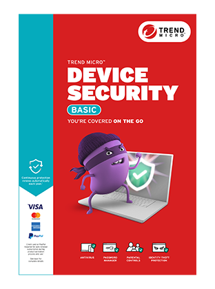 Official Trend Micro Device Security Basic Product Box Image